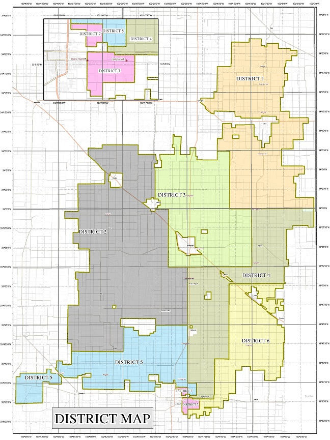 Board Districts Lamb County Electric Cooperative